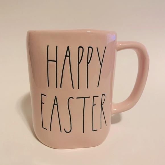 Rae Dunn HAPPY EASTER pink mug coffee tea cocoa